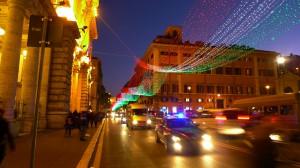 イタリアのクリスマスイルミネーション